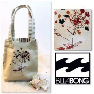 BILLABONG 2-Faced Floral Canvas Mini Tote